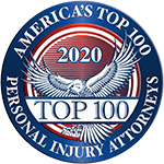 America's Top 100 Personal Injury Attorneys Seal 2020