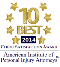 2014 Client Satisfaction Award - American Institute of Personal Injury Attorneys